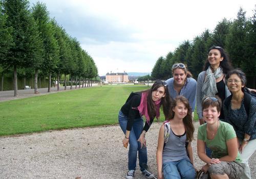 Studenti al parco del castello (Schwetzinger)