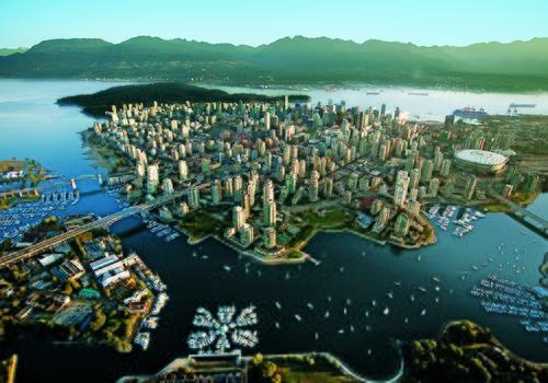 Vista panoramica di Vancouver